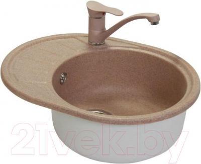 Мойка кухонная Fosto КМ 58-45 (замороженный персик)