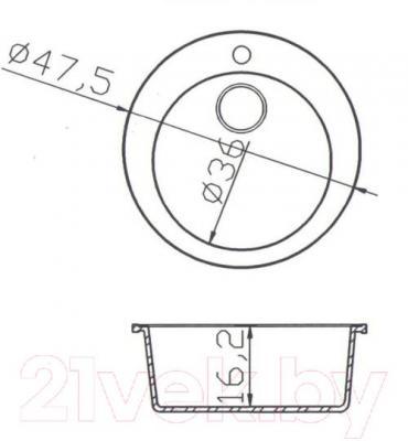 Мойка кухонная Fosto КМД 47 К (олово)