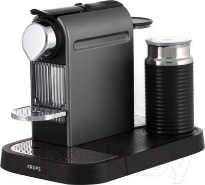 Капсульная кофеварка Krups Nespresso Citiz & Milk Titanium XN730T10