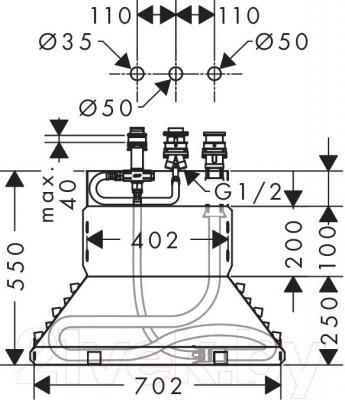 Встроенный механизм смесителя Hansgrohe 13437180