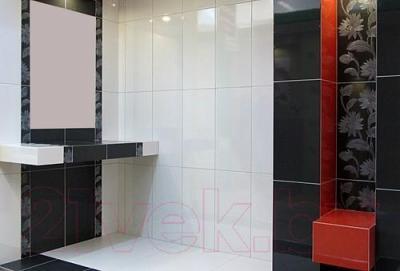 Декоративная плитка для ванной Ceramica Marconi Grafit Kwiat (600x300)