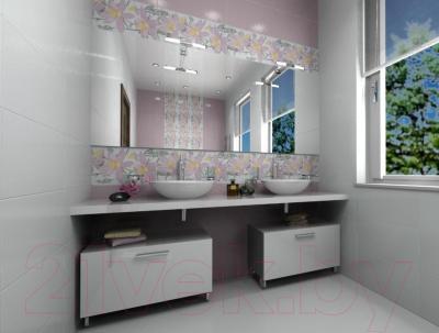 Декоративная плитка для ванной Ceramica Marconi Alaska Grafit Orlic (600x300)