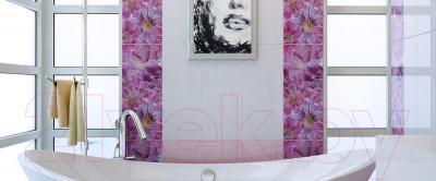 Декоративная плитка для ванной Ceramica Marconi Fortuna Viola Paski (600x250)
