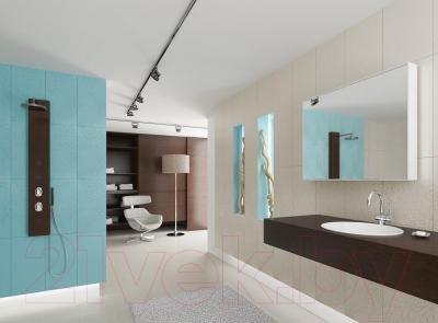Декоративная плитка для ванной Ceramica Marconi Laguna Blue Krople Full (500x250)
