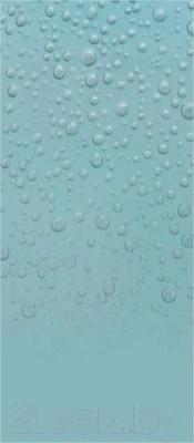 Декоративная плитка для ванной Ceramica Marconi Laguna Blue Krople Half (500x250)
