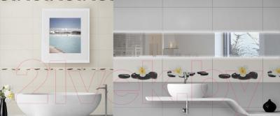 Декоративная плитка для ванной Ceramica Marconi Laguna Krem Spa Left (500x250)