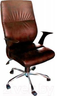 Кресло офисное Деловая обстановка Неон Хром MFT (коричневый)