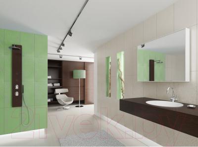 Декоративная плитка для ванной Ceramica Marconi Laguna Verde Krople Half (500x250)