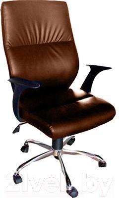 Кресло офисное Деловая обстановка Неон Хром MFT (темно-коричневый)