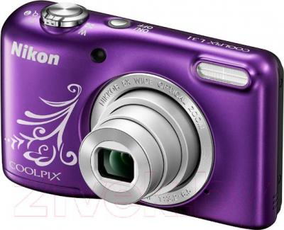 Компактный фотоаппарат Nikon Coolpix L31 (фиолетовый)