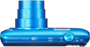Компактный фотоаппарат Nikon Coolpix S3700 (синий с рисунком)