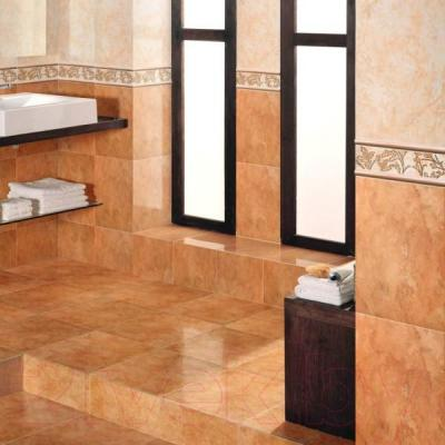 Декоративная плитка для ванной Керамин Панно Атланта 2 (400x275)