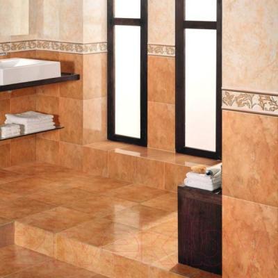 Декоративная плитка для ванной Керамин Панно Атланта 4 (400x275)
