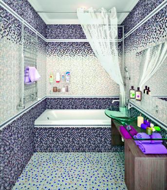 Плитка для стен ванной Керамин Гламур 3с (400x275)