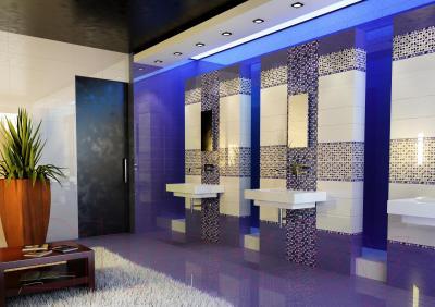 Декоративная плитка для ванной Керамин Панно Джерси 5 (500x200)