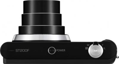 Компактный фотоаппарат Samsung ST200F (EC-ST200FBPBRU) Black - вид сверху