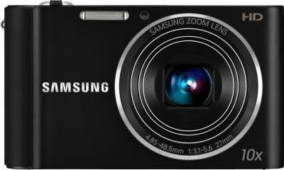 Компактный фотоаппарат Samsung ST200F (EC-ST200FBPBRU) Black - вид спереди