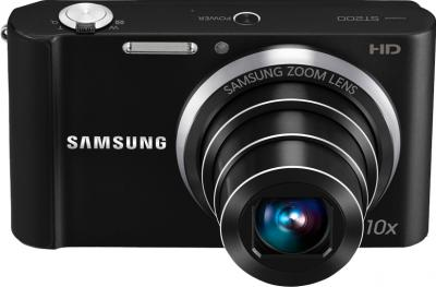Компактный фотоаппарат Samsung ST200F (EC-ST200FBPBRU) Black - общий вид