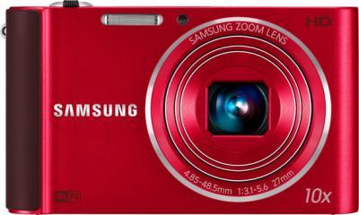 Компактный фотоаппарат Samsung ST200F (EC-ST200FBPRRU) Red - вид спереди