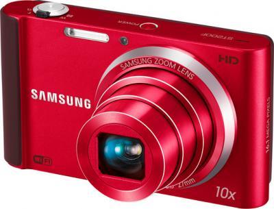 Компактный фотоаппарат Samsung ST200F (EC-ST200FBPRRU) Red - общий вид