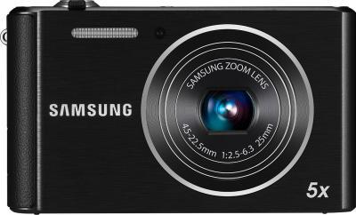 Компактный фотоаппарат Samsung ST76 (EC-ST76ZZFPBRU) Black - вид спереди