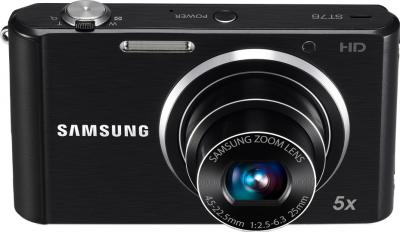 Компактный фотоаппарат Samsung ST76 (EC-ST76ZZFPBRU) Black - общий вид