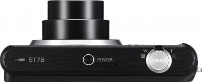 Компактный фотоаппарат Samsung ST76 (EC-ST76ZZFPBRU) Black - вид сверху