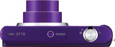 Компактный фотоаппарат Samsung ST76 (EC-ST76ZZFPLRU) Purple - вид сверху
