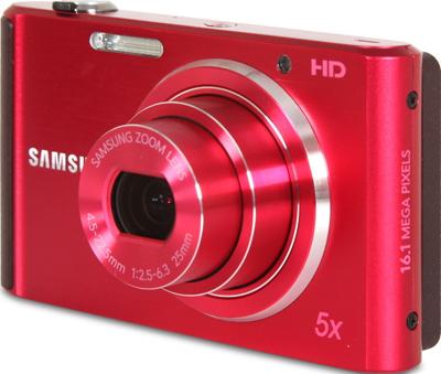 Компактный фотоаппарат Samsung ST76 (EC-ST76ZZFPRRU) Red - общий вид