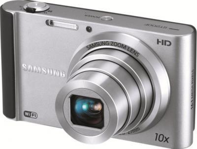 Компактный фотоаппарат Samsung ST200 (EC-ST200FBPSRU) Silver - Вид спереди