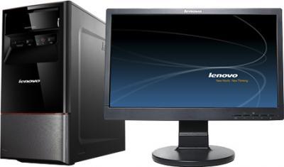 Готовое рабочее место Lenovo Системный блок H420+Монитор D186+Клавиатура+Мышь - системный блок+монитор