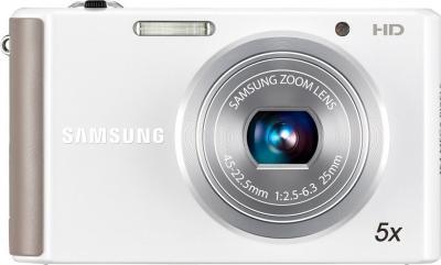 Компактный фотоаппарат Samsung ST76 (EC-ST76ZZBPWRU) White - вид спереди