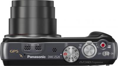 Компактный фотоаппарат Panasonic Lumix DMC-TZ30 Black - вид сверху