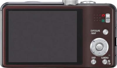 Компактный фотоаппарат Panasonic Lumix DMC-TZ30 Brown - вид сзади