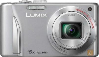 Компактный фотоаппарат Panasonic Lumix DMC-TZ25EE-S - вид спереди