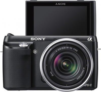 Беззеркальный фотоаппарат Sony Alpha NEX-F3K Black - вид спереди