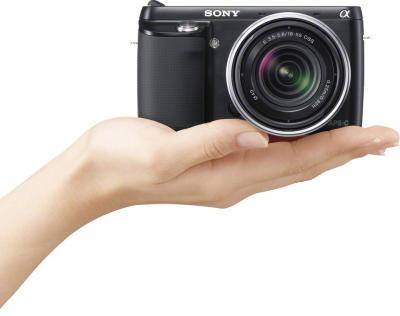 Беззеркальный фотоаппарат Sony Alpha NEX-F3K Black - общий вид