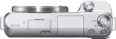 Беззеркальный фотоаппарат Sony Alpha NEX-F3K Silver - вид сверху