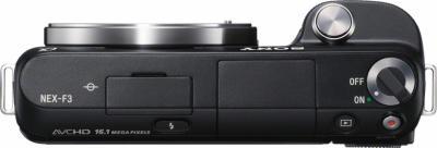 Беззеркальный фотоаппарат Sony Alpha NEX-F3D Black - вид сверху