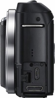 Беззеркальный фотоаппарат Sony Alpha NEX-F3D Black - вид сбоку