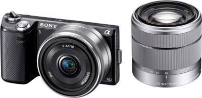 Беззеркальный фотоаппарат Sony Alpha NEX-5ND Black - общий вид