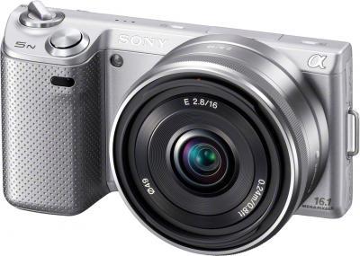 Беззеркальный фотоаппарат Sony Alpha NEX-5ND Black - вид спереди