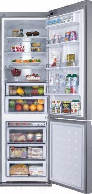 Холодильник с морозильником Samsung RL55TEBSL1