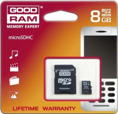Карта памяти Goodram SDHC (Class 4) 8GB (SDC8GHC4GRR9) - общий вид