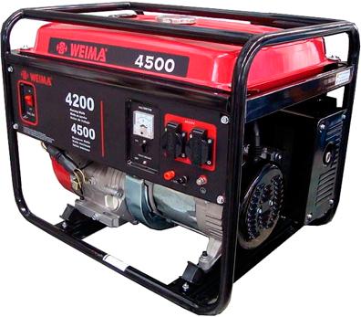 Бензиновый генератор Weima WM4500 - общий вид