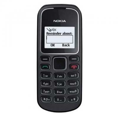 Мобильный телефон Nokia 1280 (черный) - спереди