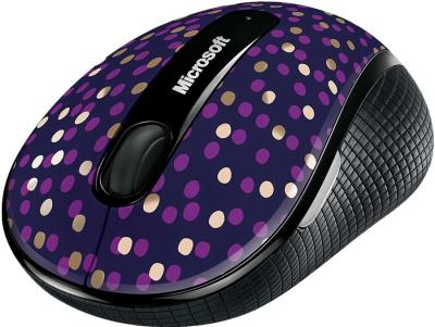 Мышь Microsoft Wireless Mobile Mouse 4000 Eggplant Dot - общий вид