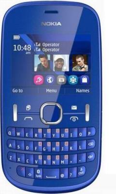 Мобильный телефон Nokia Asha 200 Blue - спереди