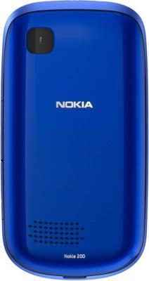 Мобильный телефон Nokia Asha 200 Blue - сзади
