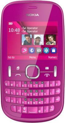 Мобильный телефон Nokia Asha 200 Pink - общий вид